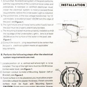 manual luces led para piscina